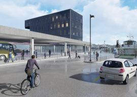 Ny kollektivterminal og nytt kontorbygg på Fugleskjærskaia