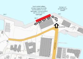 Restriksjonar på kai D (Hurtigrutekaia), Fugleskjærkaia