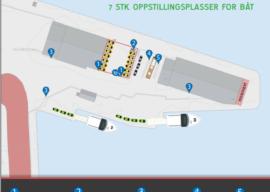 Nye parkeringsskilt på Fugleskjærkaia